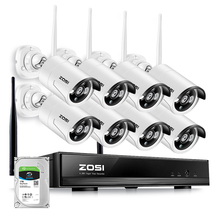 ZOSI 8CH CCTV System Wireless 960P NVR 8PCS 1.3MP IR Outdoor P2P Wifi IP CCTV Security Camera System Surveillance Kit 1TB HDD 960p hd outdoor ir night vision home video surveillance security ip camera wifi cctv kit 4ch wireless nvr system 1tb hdd