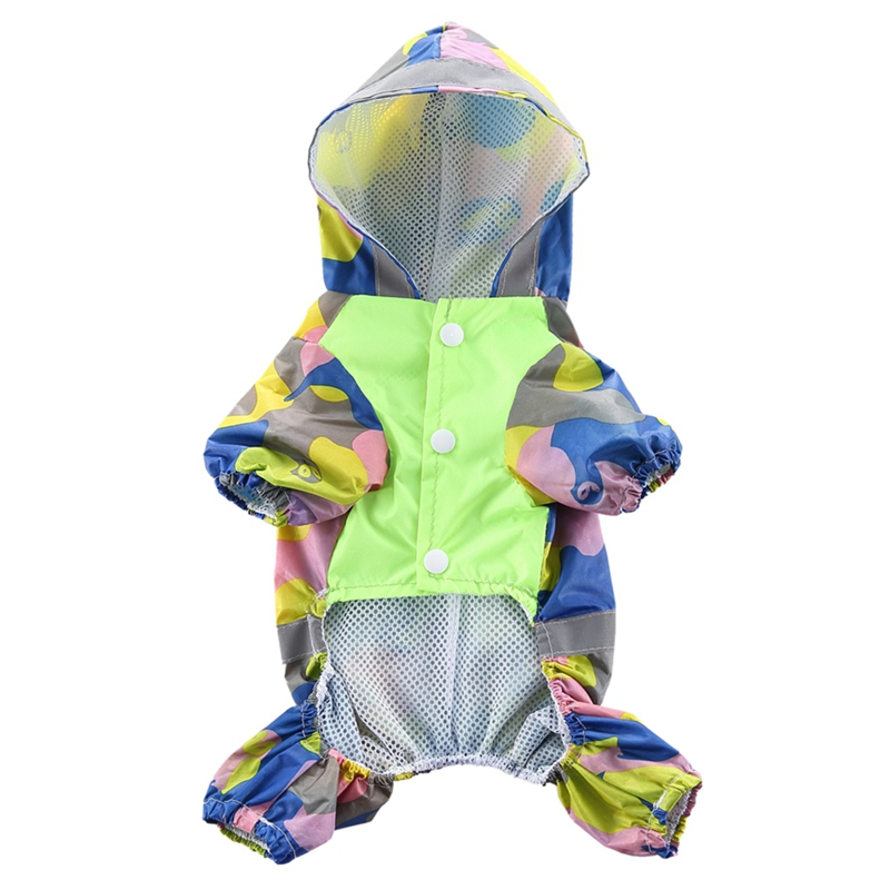 Lovely Pet Cats Dogs Raincoat Waterproof Pet Raincoat Jacket, Camouflage Climbing Rainwear 4-legs Coat For Small, Medium Dogs