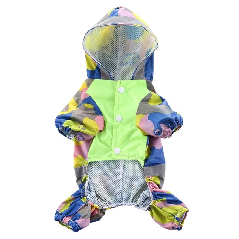 Lovely Pet Cats Dogs Raincoat Waterproof Pet Raincoat Jacket, Camouflage Climbing Rainwear 4-legs Coat For Small, Medium Dogs