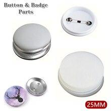 Пустая пустая булавка для изготовления кнопок, детали для изготовления значков, материалы для изготовления 25 мм, детали для кнопок «сделай ...