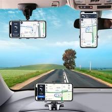 360 stopni Dashboard uchwyt samochodowy telefon w nawigacja samochodowa GPS wspornik nawigacyjny telefon komórkowy lusterko wsteczne osłona przeciwsłoneczna wielofunkcyjne stojaki