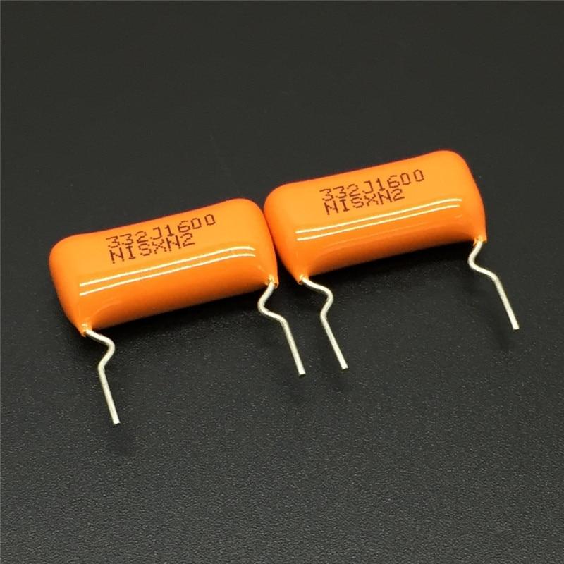 10 шт./100 шт. NISSEI Конденсатор CBB MPE 332J1600 1600V 332 J 5300pF 3.3nF шаг = 15 мм Металлизированный Полипропиленовый пленочный конденсатор|Конденсаторы|   | АлиЭкспресс