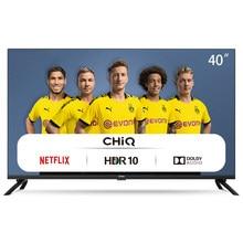 CHiQ L40H7N - Smart TV LED 40 pulgadas, resolución FullHD, Wifi, Bluetooth, Screencast, Dolby Audio, Netflix