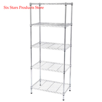 600x350xH1500 5 Tier Wire Shelving Unit 5 Layers Storage Rack Multifunctional Kitchen Book Shelf Organ