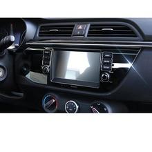 Lsrtw2017 Car Gps Navigation Screen Trims for Kia Rio X Line Kx Cross K2 Rio 2017 2018 2019 2020 Interior Mouldings Accessories накладки под ручки дверей kx cross для kia rio x line 2017