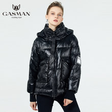 GASMAN 2019 new winter collection women thick coat Fashion Women's warm jacket Fashion female down coat Short winter(China)