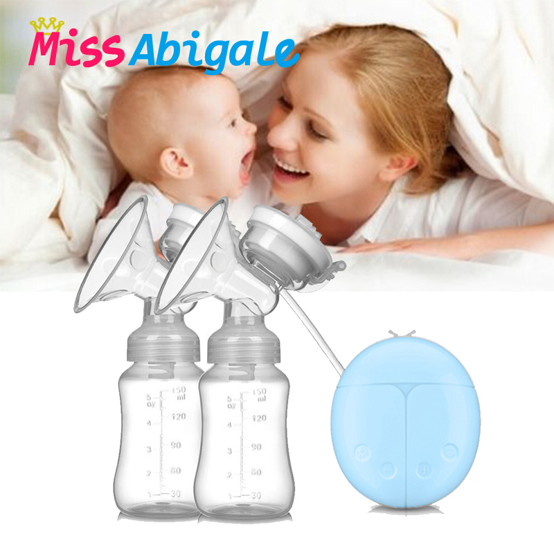 MissAbigale More Convenient USB BPA Free Breast Pump Powerful Nipple Suction Breast Electric Breast Pumps Breast Feeding