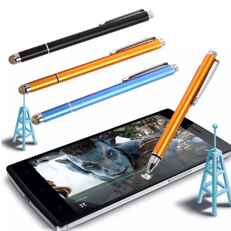 Capacitive Pen Sensitive Convenient 2 in 1 Metal Mobile Phone Supplies Stylus Pen for for iPhone IPad Electronics Table