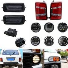 Для Лада Нива автомобильный светильник DRL светодиодный задний светильник для Лада городской 4X4 7 дюймов светодиодный головной светильник Hi/Low луч светильник Halo угол глаза DRL налобный фонарь