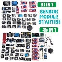 Для arduino 45 в 1 сенсор s модули стартовый комплект лучше, чем 37в1 сенсор комплект 37 в 1 сенсор Комплект UNO R3 MEGA2560