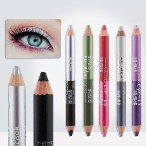 Image 2 - 1PC wodoodporna podwójna głowica wodoodporna ciecz znaczek Eyeliner Pen tatuaż tłoczenia Eyeliner ołówek narzędzia do makijażu