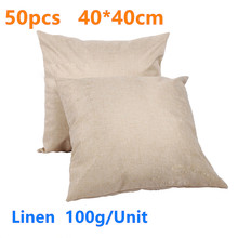 Linen Sublimation Blank Pillow Case Cushion Cover Blanks for DIY Gift Heat Press Printing Transfer 50pcs