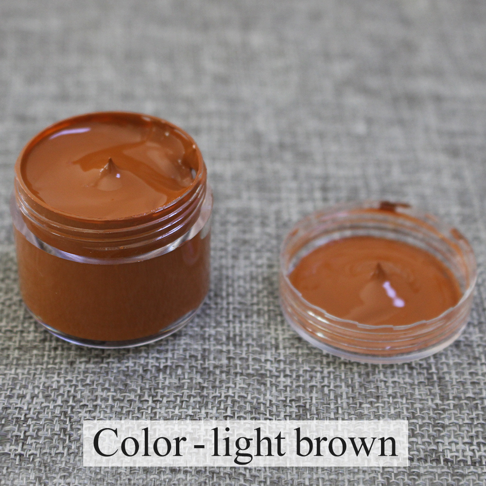 Leather Paint Restoration Light Brown For Leather Sofa Bags Shoes Clothes Holes Scratch Cracks Rips Repair Acrylic Paint