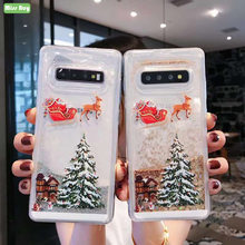 Christmas tree Printed Glitter Liquid Quicksand Star For Samsung Galaxy Note 10 8 9 S8 S9 S10 Plus S7 edge S10 Lite Cover Coque(China)