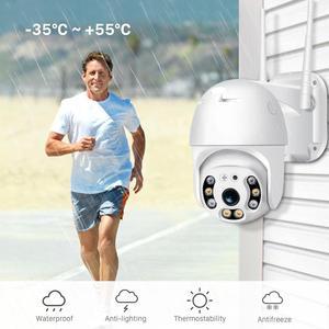 ANBIUX 1080P камера безопасности WIFI наружная PTZ скоростная купольная Беспроводная ip-камера CCTV панорамирование наклон 4XZoom IR сетевая камера видеон...