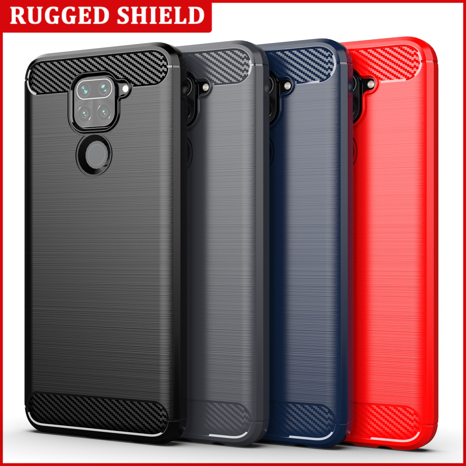 Shockproof Case For Xiaomi Mi Note 9 10 Pro 9 8 SE 9T A2 A3 Lite Mix 2s Redmi Note 9s 8 7 6 K20 K30 Pro 4X 6A 7A 8A 5 Plus Cover image