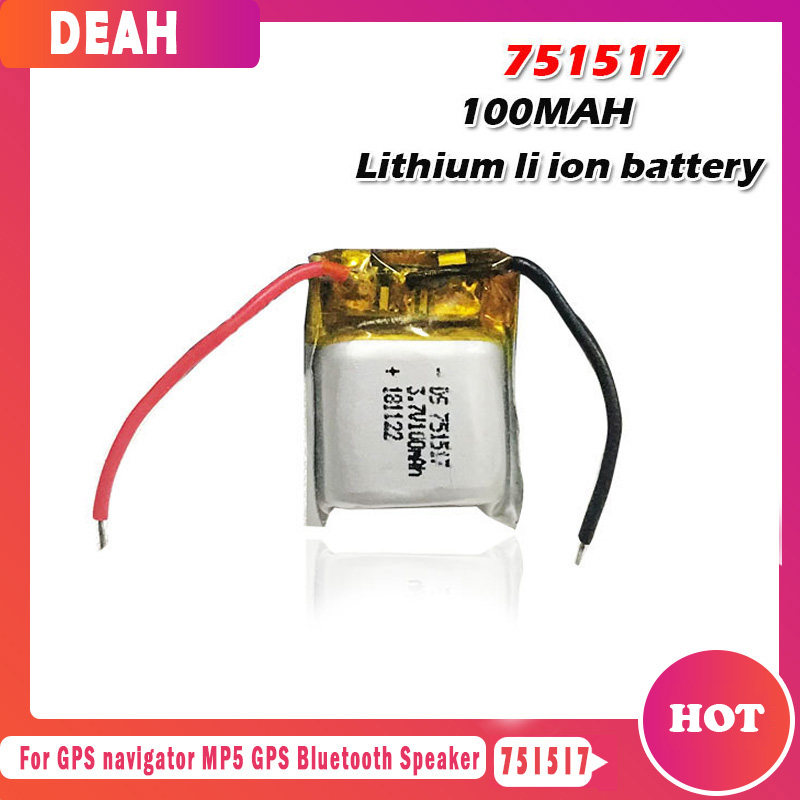 3.7v 100mah 751517 li ion Rechargeable Battery for Cheerson CX-10 CX10 CX12 JJ820 V646 V676 JJ810 RC Helicopter RC Quadcopter