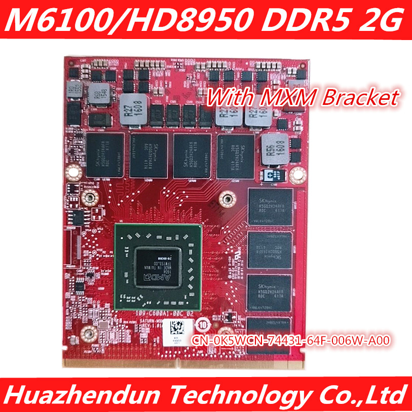 NEW M6100 Video Graphics Card For Laptop Dell Precision M6800 M6700 M6600 Part  Number CN-0K5WCN DDR5 2G