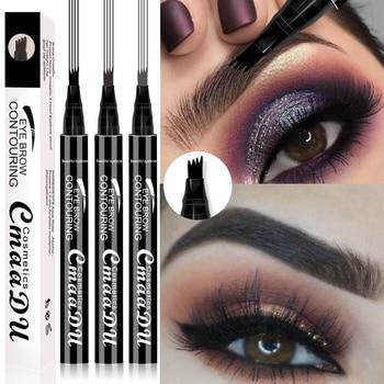 1 PC Microblading Tattoo Eyebrow Pencil Waterproof Fork Tip Eyebrow Liquid Eyebrow Pen Shades Eye Pencil Charm Makeup Cosmetics 1