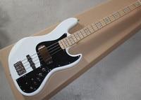 Hot Sale Firehawk Custom Shop White & Natural Active 9V Pickups 4 String Jazz Bass Guitar Marcus Miller Signature