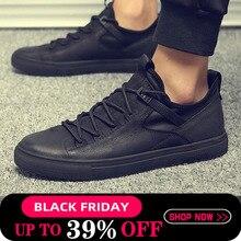 Men Black White Leather Shoes Men Flats Hot Sale Moccasins Shoes Classic Comfortable Men Casual Shoes Plus Size A52-06