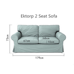 The Ektorp 2 Seat Loveseat Sofa Cover Replacement For  Ektorp 2 Seater Slipcover