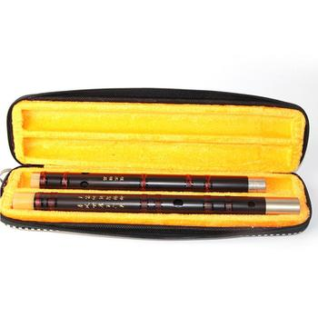 Ebony Chinese Traditional Dizi Woodwind Flute Handmade Professional Musical Instruments for Beginners