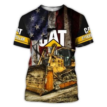 Tessffel Excavator Worker NewFashion Tracksuit Funny Unisex Casual 3DPrint Men/Women Summer T-shirt Short sleeve Man's Top A-4 2