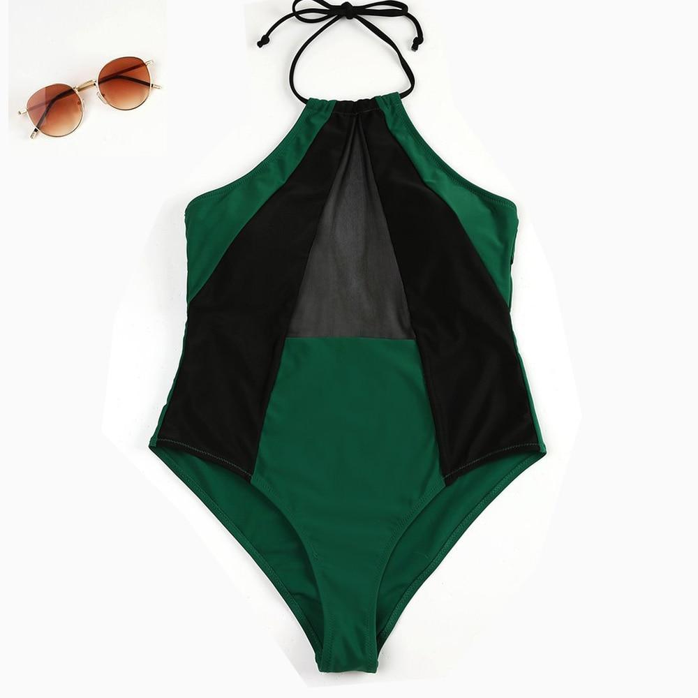 Women Swimwear Cross Back Swimsuit Vintage Retro Bathing Suits Beach Swim Wear