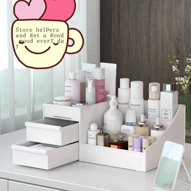 Фото новая косметическая коробка для хранения косметики большая емкость