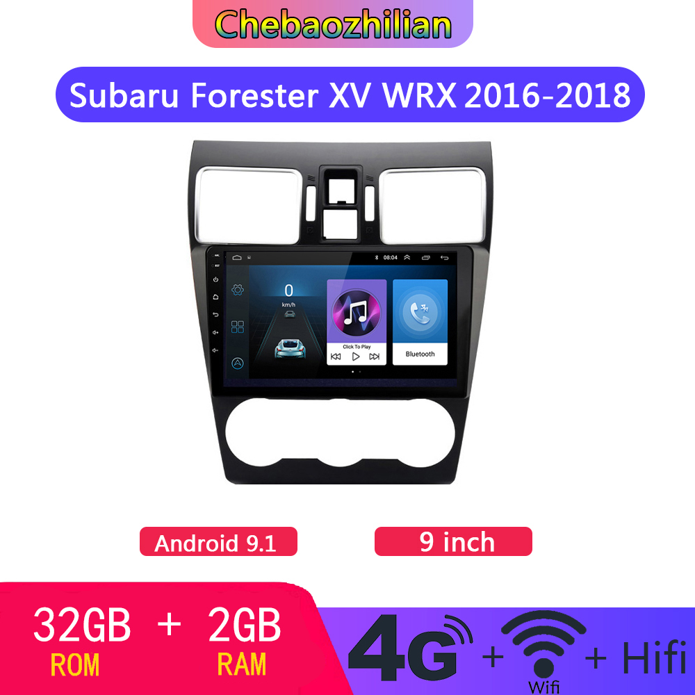 4G LTE 9 inch Android 9.1 For Subaru Forester XV WRX 2016 2018 Car GPS Navigation DVD multimedia Player Wifi Bluetooth|Vehicle GPS| |  - title=