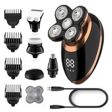 Dry-Electric-Shaver Grooming-Kit Shaving-Machine Hair-Trimmer Bald Men Beard Rechargeable