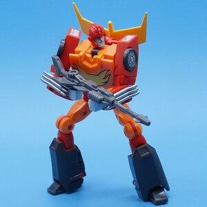Image 2 - MFT Lodivin שינוי תיקון להבה מפקד עיוות MechFans MS19 MS 19 פעולה מיני איור רובוט צעצועי 12cm עם תיבה