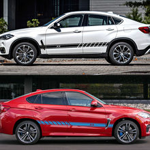Für BMW X5 E70 F15 G05 X1 F48 X3 F25 X6 E71 X2 F39 X4 F26 X7 G07 Auto Zubehör 2PCS Auto Tür Seite Rock Aufkleber Vinyl Aufkleber