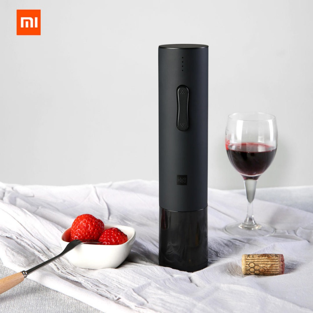 New Original Xiaomi Mijia Huohou Automatic Wine Bottle Kit Electric Corkscrew With Foil Cutter 2018 Newest arrive in Smart Remote Control from Consumer Electronics