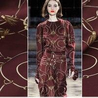 108cm wide silk stretch satin fabric meter chain printed silk fabric satin natural silk fabric soft shirt dress cloth