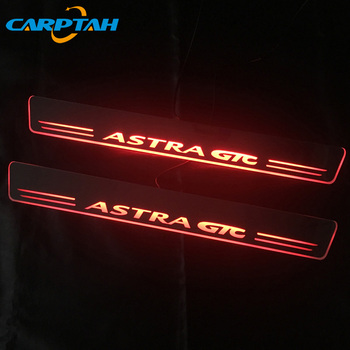Carptah 2pcs Moving LED Car Light Door Sill Scuff Plate Pathway Dynamic Streamer Welcome Lamp For OPEL ASTRA GTC