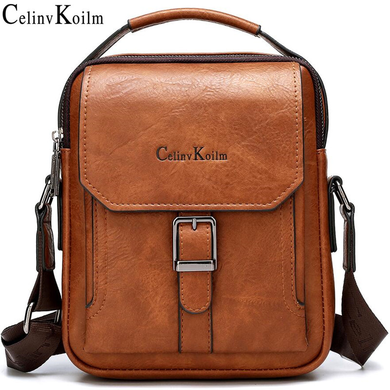 Celinv Koilm2020 New Men Fashion Messenger Shoulder Bag Big Brand Man's Tote Hand Bag Crossbody Business Casual Daypacks Leather