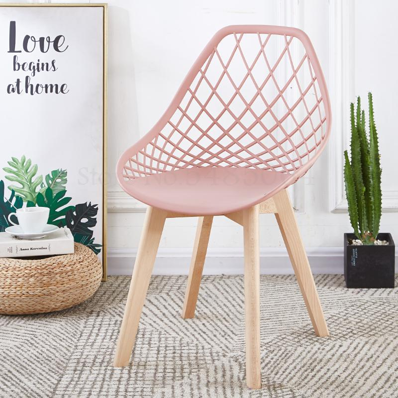 Simple Fashion Modern Creative Desk Chair Back Nordic Chair Home Computer Chair Solid Wood Dining Chair