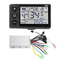 2PCS LCD Controller Power Speed Display Rainproof Bicycle Electronics for Electric Bicycle Mountain Bike Scooter