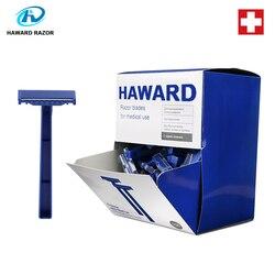 Cuchilla médica desechable HAWARD RAZOR de alta calidad 100 Uds con certificado CE, hoja de acero inoxidable importada