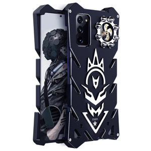 Image 1 - Luxury Armor Metal Aluminum CNC technology manufacturing Cover For Samsung Galaxy Note 20 ulrta  case Bullet Bracket Phone shell