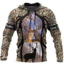 2020 New Fashion Hoodie Deer Hunting 3D Printed Hooded Sweat