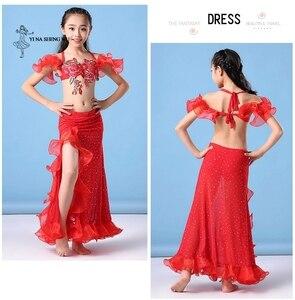 Image 5 - Kızlar oryantal dans kostümü yeni 2 adet/takım sutyen + etek oryantal dans giyim çocuklar oryantal dans performansı Dancwear çocuk için
