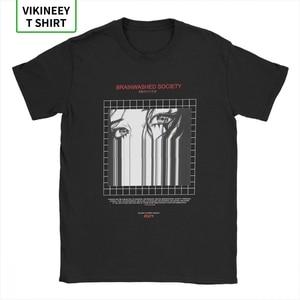 Brainwashed Society Harajuku T-Shirt Men Anime Vaporwave Japan Grunge Sad Cotton Tee Shirt Short Sleeve T Shirt Plus Size Tops(China)