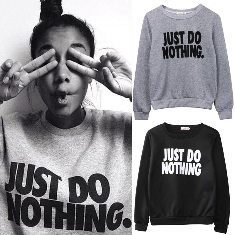 Early Autumn New Letter Print Women's Sweatshirts Sports Tops Casual Loose Sweatshirt Pullover Hoodies Jumpers