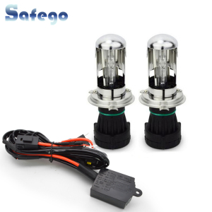 Image 1 - Safego bi xenon H4 bi xenon bulb 35w H4 3 HID BIXENON REPLACEMENT Headlight Hi/Lo Bulbs 4300K 6000K 8000K with Relay Harnes