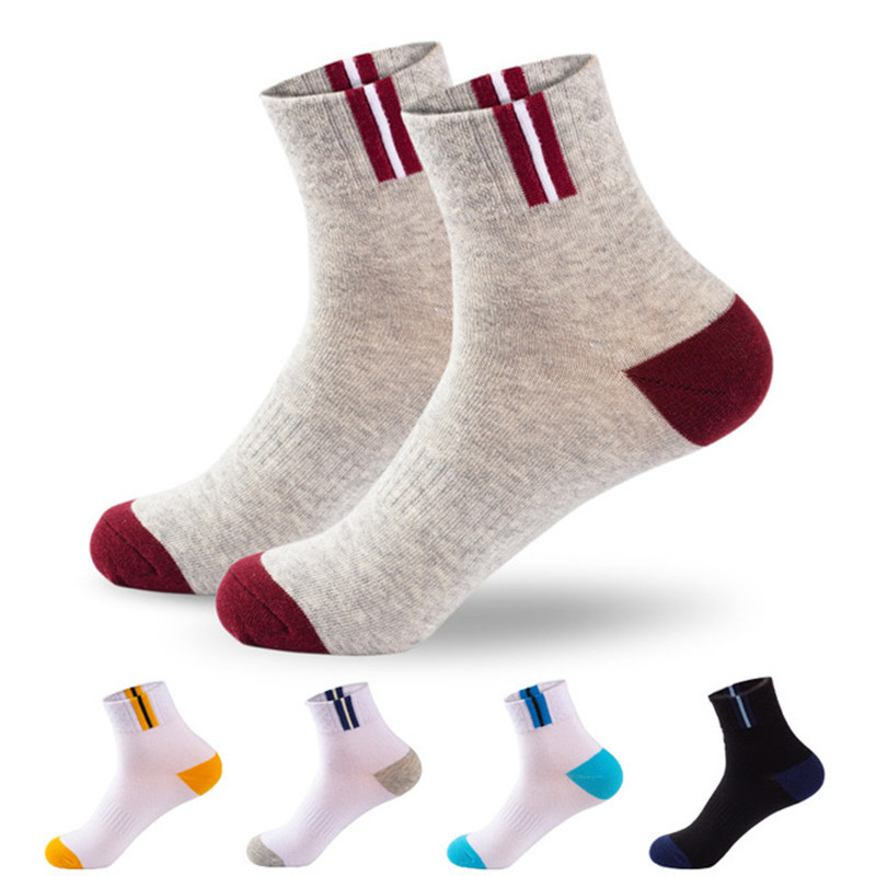 10Pcs=5 Pairs Mens Autumn Summer Socks Classic Patchwork Mesh Breathable Cotton Men Short Deodorant Male Socks Meias EU39-44