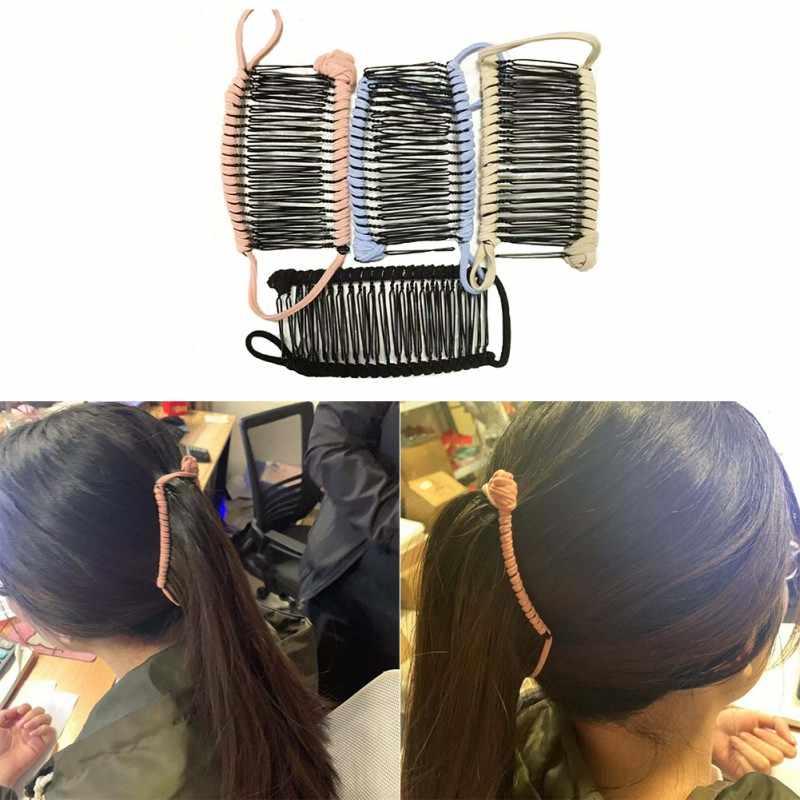 Leniwy klips do włosów podwójny grzebień do grubych, kręconych, perwersyjnych włosów brak uszkodzeń, zagnieceń lub bólu/leniwy klips do włosów/podwójny grzebień do grubych