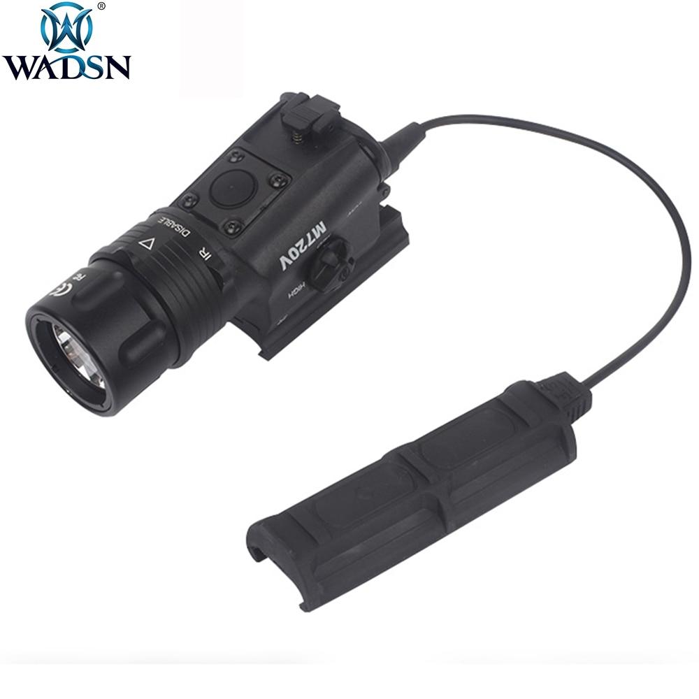 wadsn airsoft surefir m720v scout luz estroboscopica led 500lumens arma tatical caca luz tocha com m93